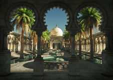 Magin av Orienten, 3d CG royaltyfri illustrationer