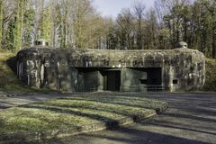 Maginot line building in Alsace France stock photography