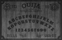 Magique noir en bois de conseil d'Oujia illustration stock