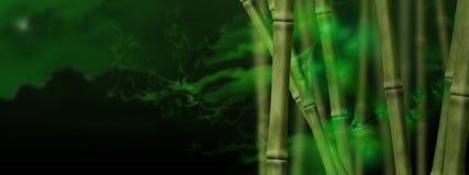 Magisch bamboebosje royalty-vrije illustratie