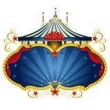 Magisch blauw circusframe Stock Afbeeldingen