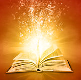 Magisch boek Royalty-vrije Stock Foto's