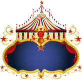 Magisch circus blauw kader Stock Afbeelding