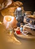 Magisch concept Drankjes in fles Royalty-vrije Stock Foto's