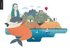 Magisch de zomerlandschap royalty-vrije illustratie