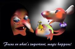 Magisch gebeurt, concept vector illustratie