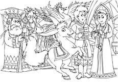 Magisch gebocheld paard Royalty-vrije Stock Afbeelding