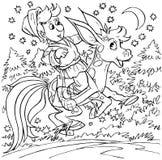 Magisch gebocheld paard Royalty-vrije Stock Afbeeldingen