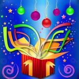 Magisch Geschenk-überraschen Sie durch Christmas, neues Jahr stockbild