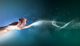 Magisch handen conceptueel beeld royalty-vrije illustratie