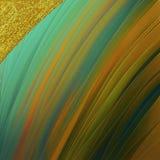 Magisch helder behang De gouden gekleurde slagen met schitteren flard Goed voor ambacht, gift, decor, het verpakken, thema's royalty-vrije stock foto's