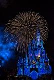 Magisch Koninkrijk Cinderella Castle Fireworks Orlando royalty-vrije stock fotografie