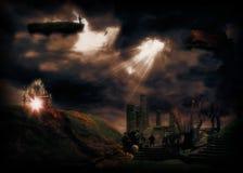 Magisch koninkrijk van een tijd lang geleden Stock Afbeelding