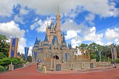 Magisch koninkrijkskasteel Royalty-vrije Stock Foto