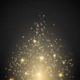 Magisch lichteffect Gloed speciaal effect licht, gloed, ster en uitbarstingsvonk vector illustratie