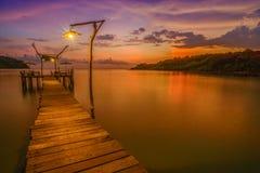 Magisch ogenblik bij eiland in Thailand Stock Afbeelding