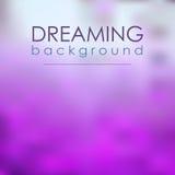 Magisch Onduidelijk beeld Violet Background Dreaming royalty-vrije illustratie