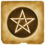 Magisch Pentacle symbool oud document Royalty-vrije Stock Foto's