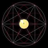 Magisch ritueel Heilig meetkundeteken Kaars vector illustratie