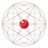 Magisch ritueel met kaars Heilig meetkundeteken vector illustratie