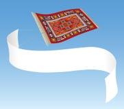 Magisch Tapijt met Banner Royalty-vrije Stock Fotografie
