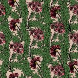 Magisch tulpen naadloos patroon royalty-vrije illustratie