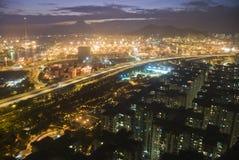 Magisch uur in Hongkong Stock Afbeeldingen