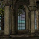Magisch venster in fantasie het plaatsen vector illustratie