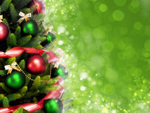 Magisch verfraaide Kerstboom stock afbeelding