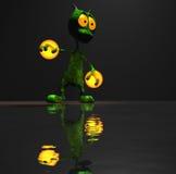 Magisch weinig beeldverhaal vreemd karakter Stock Fotografie