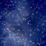 Magische achtergrond blauwe schalen/Sterren Royalty-vrije Stock Fotografie