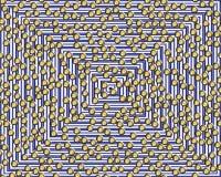 Magische achtergrond met gele gebieden stock illustratie