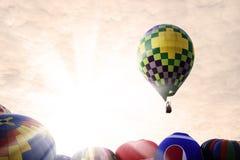 Magische Ballonfahrt Stockbilder