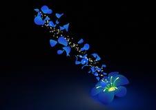 Magische bloem Stock Afbeelding