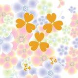 Magische bloemachtergrond Royalty-vrije Stock Afbeeldingen