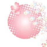 Magische bloemachtergrond. vector Stock Foto's