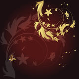 Magische bloemenachtergrond Royalty-vrije Stock Foto
