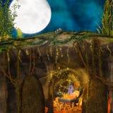 Magische borst van schat royalty-vrije illustratie