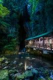 Magische Brug in Akiyoshi Cave stock afbeeldingen