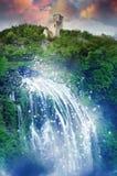 Magische cascade royalty-vrije stock afbeelding