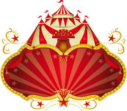 Magische circus grote bovenkant Stock Afbeeldingen