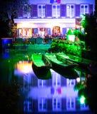 Magische Colmar stad bij nacht 3 Royalty-vrije Stock Afbeelding