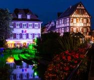 Magische Colmar stad bij nacht 2 Royalty-vrije Stock Fotografie