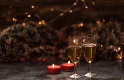 Magische de winterogenblikken - romantische avond stock afbeelding