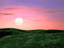 Magische de zomerzonsopgang Royalty-vrije Stock Afbeelding