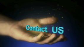 Magische deeltjes Open handen van een mens Houden, het geven die, het bereiken, concept nemen stock footage