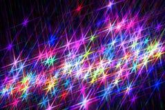 Magische donkere achtergrond van briljante sterren stock illustratie