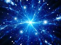 Magische Explosion von großen Daten im Raum Stockbild
