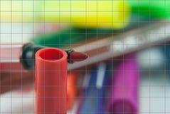 Magische Farbstifte Stockbilder