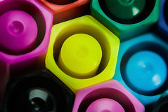 Magische Farbstifte Stockbild
